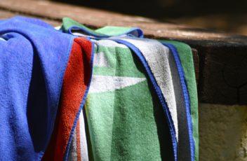ręczniki na plaży